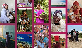 collage of images of people who are helped by Bold Solutions Network members