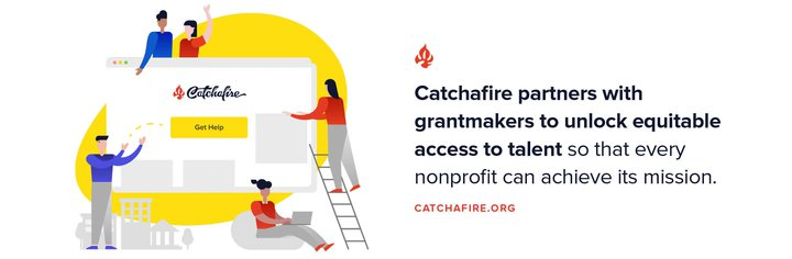 Catchafire banner about their work to support partners